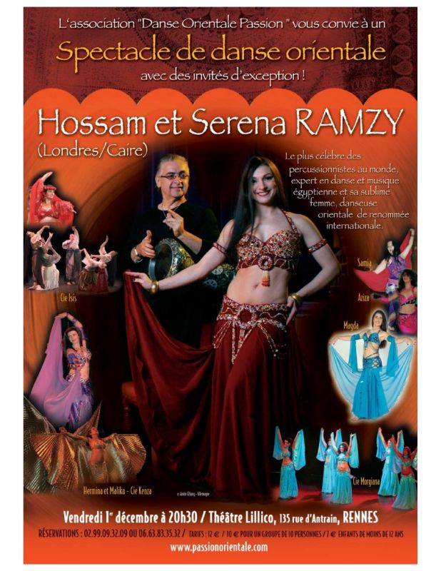Affiche du show avec hossamramzy_2005