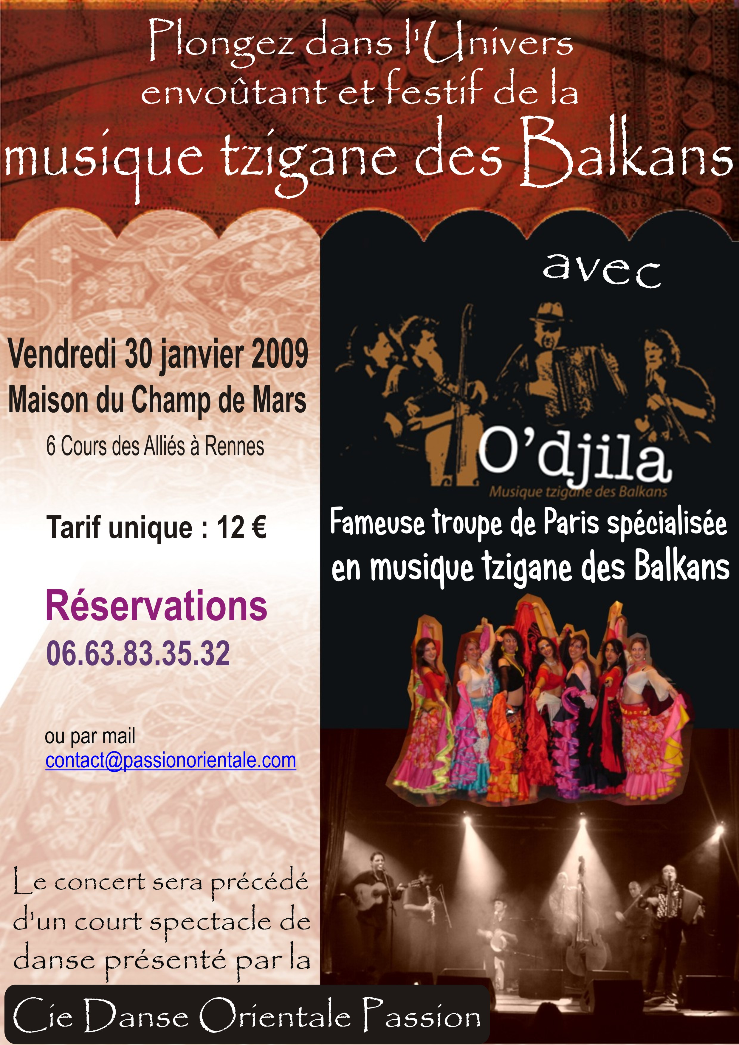 Affiche du spectacle avec O\'Djila -2009
